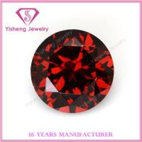 Buy cheap Cubic Zirconia(CZ) 6.5mm Round Wholesale Red Garnet CZ from wholesalers