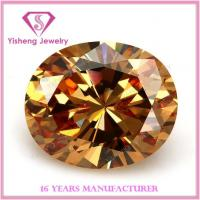 Buy cheap Cubic Zirconia(CZ) AAA good cutting champagne topaz gemstone from wholesalers