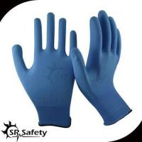 China 13 gauge knitted nylon liner coated water-based PU on palm gloves wholesale