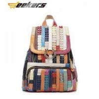 Multicolor leather Women's handbags, shoulder bags, leather messenger bag, leather bag Leisure pack