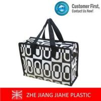 China White mixed black non woven zipper tote bags wholesale