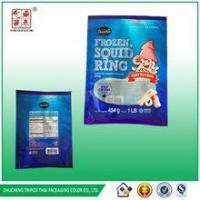 China packaging for frozen foods&1 LB Frozen squid ring colored bag wholesale