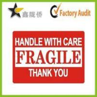 Buy cheap Fragile adhesive sticker label /Carton label from wholesalers