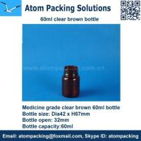 China 60ml Clear Brown Medicine bottle for tablet wholesale
