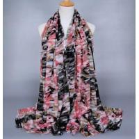 China Camouflage viscose silk scarves wholesale