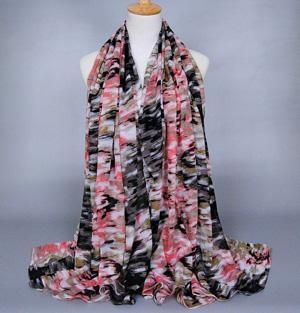China Camouflage viscose silk scarves