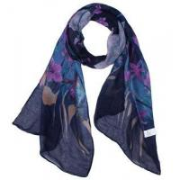 Buy cheap Floral silk viscose scarf from wholesalers