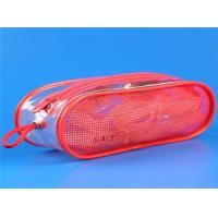 China red PVC mesh packaging bag with zipper wholesale