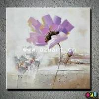 China New Style Abstract Flower Oil Painting of Poppy Flower wholesale