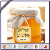 China New Design Adhesive Printed Honey Sticker Label for Glass Bottle wholesale