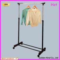 China Metal frame one pole adjustable clothes drying rack wholesale