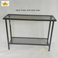 China High quality heavy duty 2 layes shelves metal storage rack wholesale