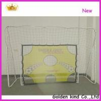China Factory sale inflatable soccer goal post with shooting hole wholesale