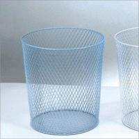 China Trash Can-Middle-Mesh Bottom (Blue or White)(LD01-508-4) wholesale