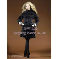 BG20147 Genuine Lamb Fur Coats with Mink Fur Trim OEM Wholesale Retail woman coats