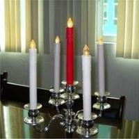 China 11inch Long LED FlamelessTaper Candles for dinner / LED Battery operated long candle stick wholesale