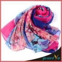 China Scarf In Stock Of Soft New Digital Printed Chiffon Scarves wholesale