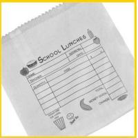 China Flat printed school lunch paper bag wholesale