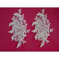 Pairs embroidery shiny apparel and accessories lace flower SBP62467CB