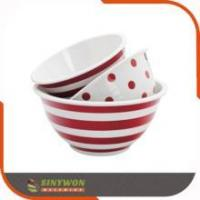 China Hot Selling 3PCS Customize Printed Plastic Mixing Bowl Set wholesale