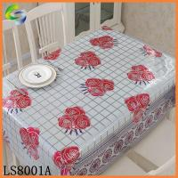 China Laser Printed PVC Tablecloth Wholesale restaurant vinyl tablecloths on sale