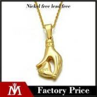 Valentine's day present stainless steel heart pendant necklace by hand for women jewelry