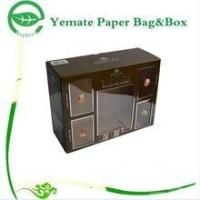 China plain black print corrugated paper carton gift box with clear PVC window for wammer bag wholesale