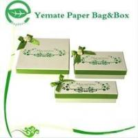 China elegant eyecatching light green printed cardboard nested high quality gift box with silk bowknot wholesale