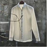 Long sleeve white man linen shirt