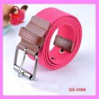 China Fabric design fashion belts women top pants fancy stripe branded belts factory wholesale
