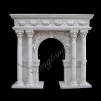Wholesale Good Quality Column Marble Fireplace Mantel Shelf Hot Sale from china suppliers