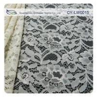 China Nylon Viscose Corded Lace Fabric For Clothing 145CM - 150 CM Width CY-LW0015 wholesale