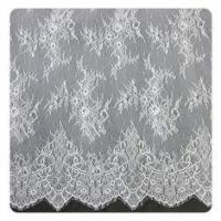 China Eco friendly Dyeing Fabric , Flora Bridal Chantilly Nylon Lace With Nylon Material wholesale