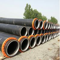 Hdpe dredging pipe with steel ring inside the neck--new design