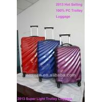 hard luggage 2014 Hot sell lightweight polycarbonate luggage trolley luggage