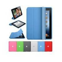 Hot sale PU blue 3 folding smart Cover for ipad mini