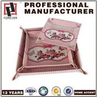 New Box pu leather cosmetic tray , decorate indian wedding trays