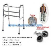Wholesale HR8027-Heavy Duty Deluxe Adult Single Button Folding Walker from china suppliers