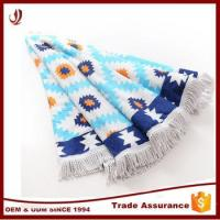 China 100% cotton custom round beach towel with fringes wholesale