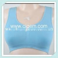 China Apparel Processing Services ENERGETIC SEAMLESS SPORTS BRA BRIGHT BLUE wholesale