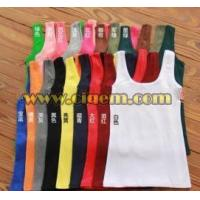 China Apparel Design Services U-neck and shortless hot vest roe lady wholesale