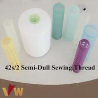 Wholesale 42s/2 semi-dull raw material sewing thread for jeans from china suppliers