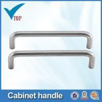 Stainless steel pipe handle for furniture drawer