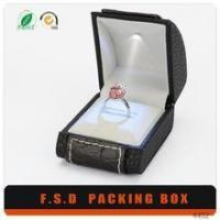 China Luxury Design Insert Led Light Small Man Gift Boxes For Ring wholesale