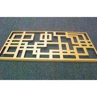 Golden aluminum plate carving, engraved aluminum plate