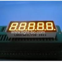 China Super yellow 5 digit 0.36 inch common cathode 7 segment led display for Instrument Panels wholesale