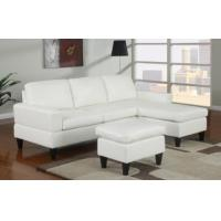 China Sausalito Cream Leather Small Sectional Sofa by Urban Cali wholesale