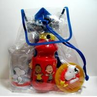 China Snoopy Snack Sack Dish and Bottle Set wholesale