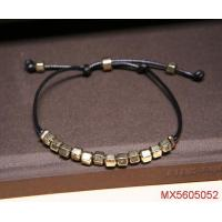 China Summer/Autumn Fashion Accessories Factory Cube Iron Disc Threaded By Wax Rope Bracelet on sale