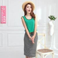 China New arrival 2013 color block stripe sleeveless vest one-piece dr wholesale